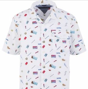Tommy Hilfiger Candy-Print Poplin Camp Shirt